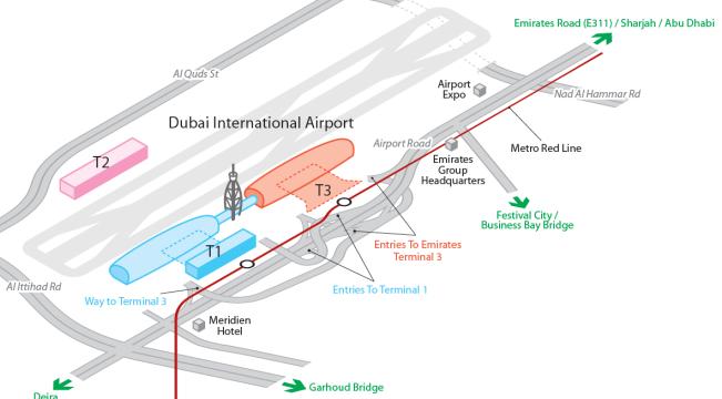 аэропорт дубай dxb на карте
